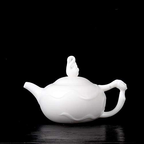 Tetera de porcelana de estilo japonés Tetera de porcelana de jade gordo de oveja Tetera de porcelana blanca de cerámica