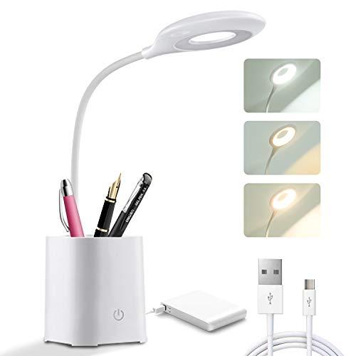 BelonLink Lámparas de Escritorio, LED con Portalápices lámpara de mesa , Atenuación...