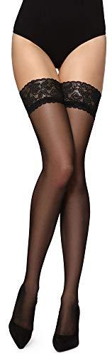 Merry Style Donna Calze Autoreggenti MS 209 (Nero, M-L)