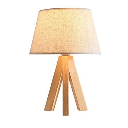 Lámpara de mesita de noche Lámparas de escritorio Protección de ojos japonesas Lámpara de mesa de madera creativa Simple Nordic Arte Cálido Dormitorio Lámpara de cama Lámparas de mesa de escritorio de
