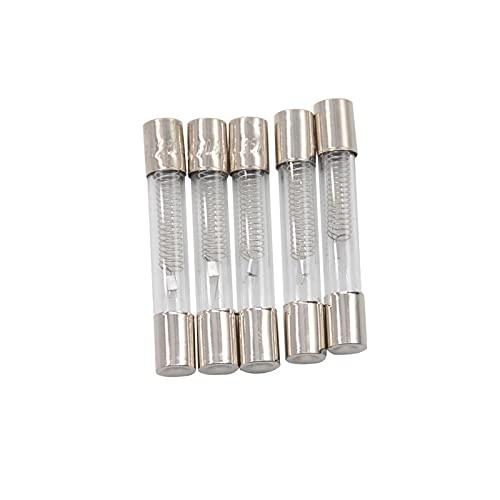 Kfdzsw Fusible 5 Piezas 5KV Fusible de microondas Especial 6 * 40 mm 0.6 0.65 0.7 0.75 0.8 0.85 0.9 A Fusible de tubería de Vidrio 700mA 6x40mm High Print Backup (AMP : 0.7A)