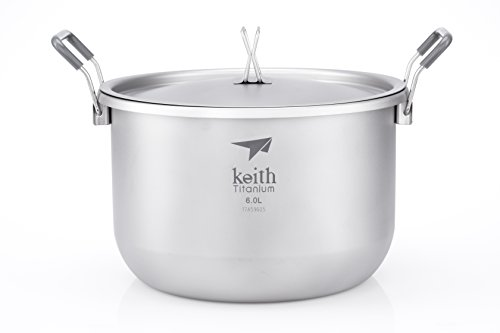 Keith Titanium Ti8301 Pot - 6.0 L