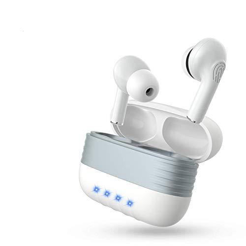 Auriculares Inalambricos,Bluetooth 5.1 Estéreo Cascos Impermeable Auriculares Control Tactil con Caja de Carga Portátil