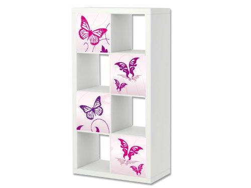 Stikkipix Mariposa rosa Cascarillo para muebles   ER22   Adh