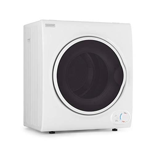 Klarstein Jet Set 4000 - Secadora de ropa, Carga frontal, Potencia 1400 W, Independiente, EEC C, 4 kg, Resistencia de PTC, Calor de hasta 60 °C, Programable de 20 a 200 minutos, Compacta, Blanco