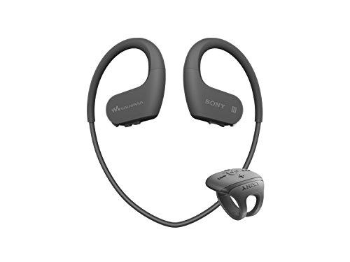 ソニー ヘッドホン一体型ウォークマン Wシリーズ NW-WS625 : 16GB スポーツ用 Bluetooth対応 防水/海水/防塵/耐寒熱性能搭載 外音取込み機能搭載 リングタイプリモコン付属 ブラック NW-WS625 B