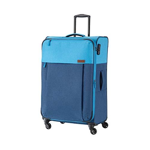 Travelite Leichtes lässiges Surferlook Trolley Koffer 77 cm, 92 L, Marine/Blau