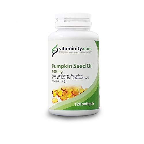 Vitaminity Aceite de Semillas de calabaza 500 mg – Suplemento Alimenticio a base de aceite de semillas de calabaza