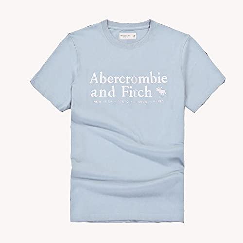 MONA@FILTER Mujeres hombres algodón camiseta de manga corta verano polo casual camiseta top sportswear,Azul,L