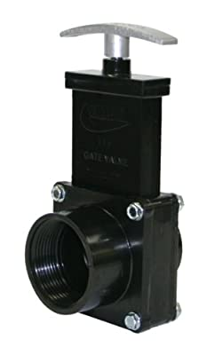 """Valterra 7110M ABS Gate Valve, White, 1-1/2"""" FPT x Spig, with Metal Handle by Valterra Products"""
