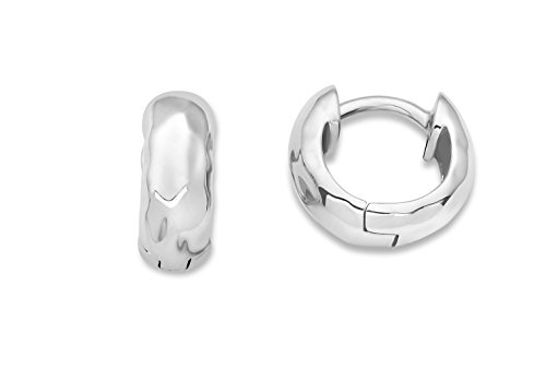 Miore Damen-Creolen 925 Sterling Silber Diamantschliff 925 Silber rhodiniert - MSAE030E