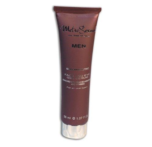 Gel Sérum Pour le Visage & les Yeux Metro Sexual (pour tous les types de peau) - La gamme de Cosmétiques pour les Hommes 100 % d'origine de la Mer Morte