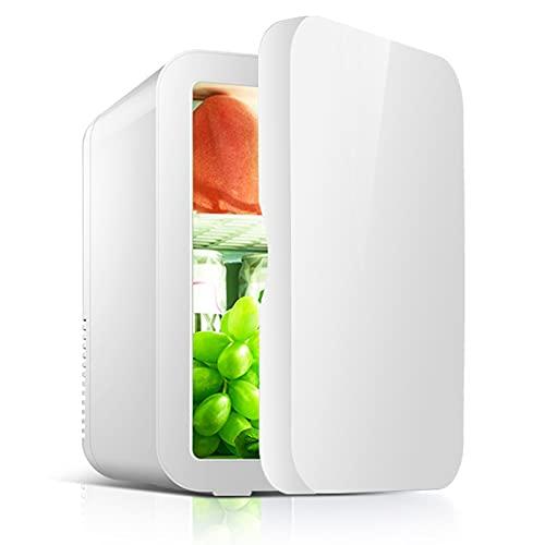 8L Mini Nevera Pequeña Portátil Frigorifico Para Coche Y Casa Tanto En Frío Como En Calor 0-65°C Enfriamiento Y Calentamiento Para Skincare Alimentos Bebidas Cuidado De La Piel
