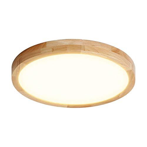 Plafón LED De Madera 3000K-6500K Plafón Empotrado Regulable, Plafón LED para Baño, Utilizado En Dormitorios, Cocinas, Salas De Estar, Pasillos [Clase Energética A ++],White Light,30cm