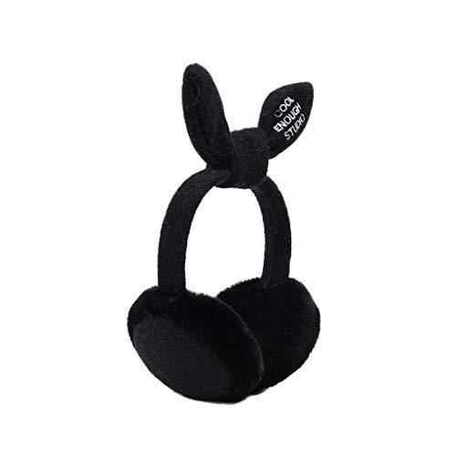 ZJ Warm halten Earmuffs Warm Earmuffs Earmuffs Mann-Winter Earmuffs Frauen im Freien Earmuffs Warm warm (Color : Black)