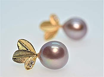 14K Gold Filled 12-13 mm Large Metallic Lavender Edison Pearl Earrings for Women