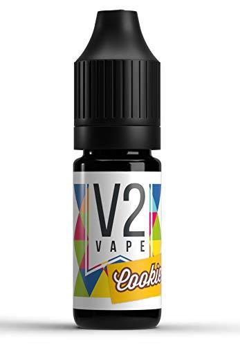 V2 Vape Cookie Keks AROMA / KONZENTRAT hochdosiertes Premium Lebensmittel-Aroma zum selber mischen von E-Liquid / Liquid-Base für E-Zigarette und E-Shisha 30ml 0mg nikotinfrei