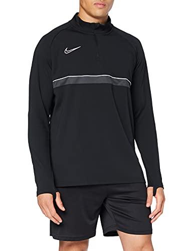 Nike Herren Academy 21 Drill Top Longsleeve, Black/White/Anthracite/White, L