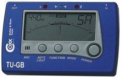COXX TU-GB Blue Tune, automatisches Stimmgerät in blauem Design für Gitarre und Bass