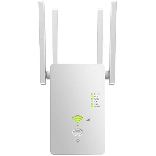 AC1200Router| WiFi Range Extender |Repeater| Latest 5GHZ&2.4GHZ Dual Band | Dual Band WiFi Extender, Repeater, WiFi Signal Booster, Access Point| Easy Set-Up |