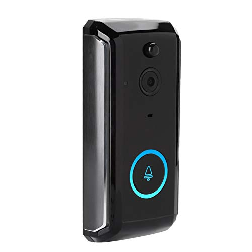 DAUERHAFT Timbre de la cámara Portero automático Visible, para Filtro IR-Cut, para Soporte Tarjeta TF de 32GB