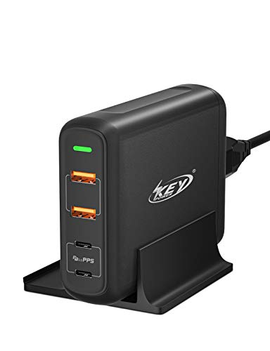 USB C Charger 150W Key Power Quick Charger Station with Dual Type C PD Fast Charger for MacBook Pro/Air,iPad Pro,Dell,Lenovo, iPhone 12/11/Pro/Max/XR/XS/X,Galaxy,Pixel and More