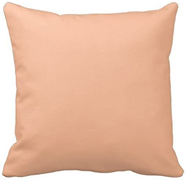 Vintage Apricot Peach Personalized Cream Color Home Decorative Throw Pillow Cover Cushion Case Pillowcase 1