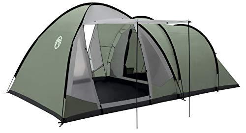 Coleman Waterfall 5 Deluxe Familienzelt, 5 Mann Zelt mit separatem Wohn und Schlafraum, einfach afzubauen, 5 Personen Zelt, Wasserdicht WS 3000mm