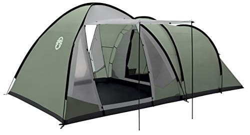 Coleman Waterfall 5 Deluxe family tent, 5 Man Tent with Separate Living and Sleeping Area, Easy to Pitch, 5 Person Tent, 100 Percent Waterproof HH 3000 mm, One Size