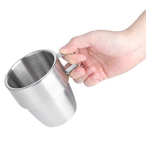 N#A Taza, con asa Taza de café de Acero Inoxidable de Doble Capa, 300 ml para cafetería, hogar