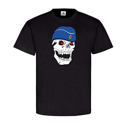Deutscher Marinesoldat Soldat Marine Schiffchen Skull Totenkopf - T Shirt #5608, Größe:XL, Farbe:Schwarz