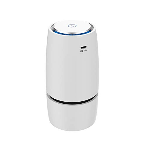 Affordable Portable Mini Air Purifier and Freshener with HEPA-11 Filter USB in-Car and Home Ionizer ...