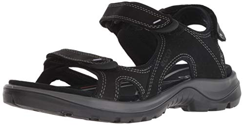 ECCO Women's Yucatan outdoor offroad hiking sandal limited, black yak leather, 39 M EU (8-8.5 US)