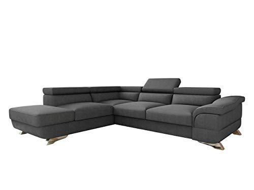 Mirjan24 Polsterecke Lagos! Ecksofa Eckcouch mit Bettkasten und Schlaffunktion! einstellbare Kopfstützen! Schlafsofa L-Form Couch Couchgarnitur! Wohnlandschaft (Ecksofa Links - OT-2R, Inari 94)