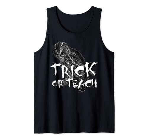 Camiseta de Trick or Teach, disfraz de profesor de miedo para Halloween Camiseta sin Mangas