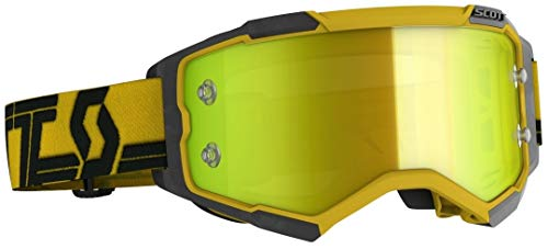 Scott Fury MX Goggle Cross / MTB bril geel / zwart / geel chroom Works