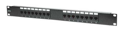 Intellinet 519526 Panel de parcheo 1U - Bahía de Entrada (10Base-T, 100Base-TX, 1000Base-T, Gigabit Ethernet, RJ-45, Cat6, Negro, 1U)