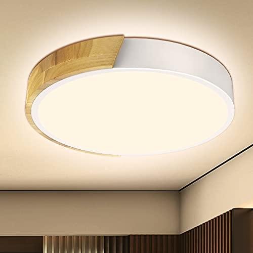 Kambo LED Lámpara de Techo 24W Blanco Moderna Redondo, Plafón Techo Led Blanco Neutro 4500K 2400LM Para Pasillo Cocina Sala de Estar Dormitorio Comedor Balcón Habitacion