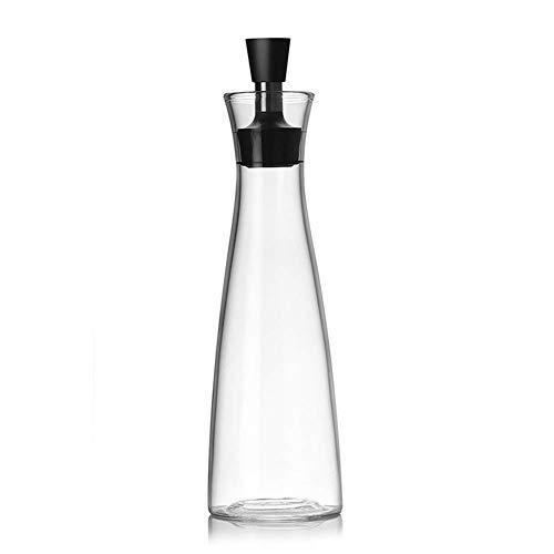 Olijfolie fles, olijfolie dispenser fles met schenktuit, glas olijfolie flessen, helder glas azijn en olie gietter fles dispenser anti olijfolie voor koken Eén maat 500 ml.
