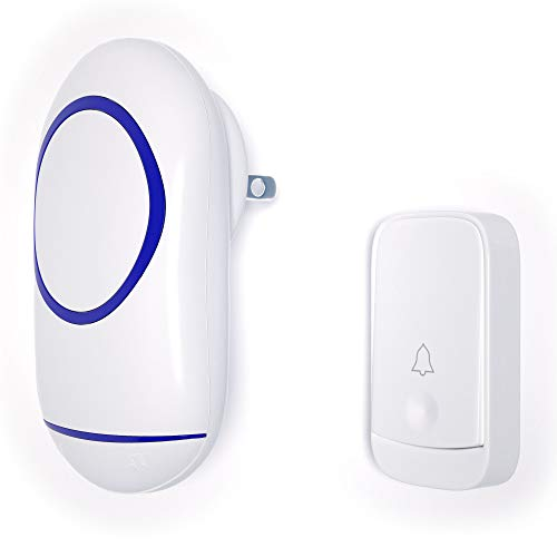 Wireless Doorbell by akk, 1,000ft Range Loud Enough with 4 Volume Levels and Mute Mode Door Chimes LED Flashing