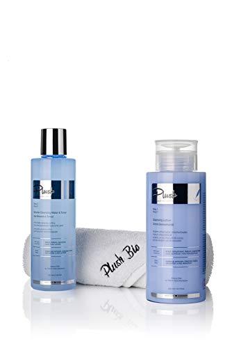 Plush luxuryBIOcosmetics - Chocolade en Koffie - Set met 2 producten + een Handdoek cadeau - make-up verwijderen, reinigen, verstevigen, ontgiften - huidtypes: droog, volwassen, gevoelig