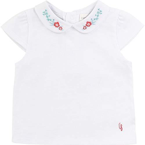CARREMENT BEAU T-Shirt Coton col Fantaisie Bebe Couche Blanc 3MOIS