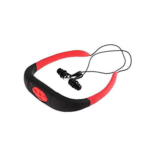 linjunddd Buceo Reproductor Mp3 Impermeable del Deporte 8gb Natación Submarinismo Mp3 Radio FM Auricular Red De Alimentación Conveniente