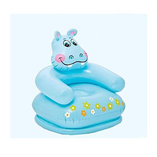 YNuo Aufblasbares Sofa, Kindersitz Baby Tragbarer Sicherheitsrücksitz, Niedliche Tierform, Hochwertiges Geschenk Jeden Tag Kleidung lagern und wechseln. (Color : B, Size : 65×64×75CM)