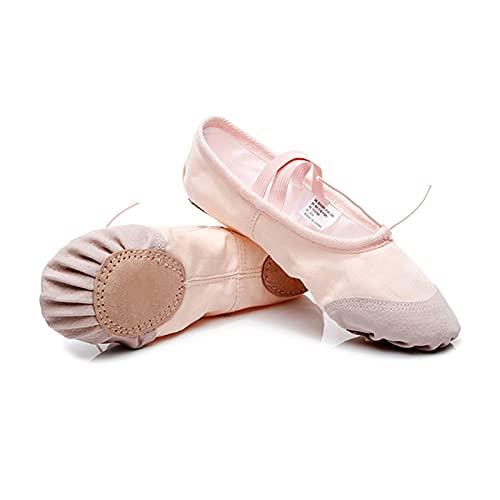 Dziewczęce Baletki Baletki Buty Do Tańca Damskie Baletki Podział Podeszwy Płócienne Kapcie Do Tańca (Color : Multi-colored, Rozmiar : 29)