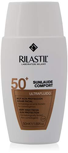 Rilastil Sunlaude Comfort - Ultrafluido Facial con Protección Solar SPF 50+, 50 ml