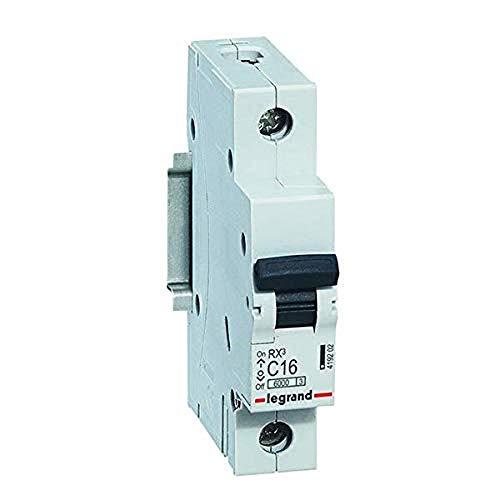 Legrand 419202 - Interruptor de seguridad C16 A, 30 mA, clase C, 30 mA, 1 polo 230/400 V, 12 unidades