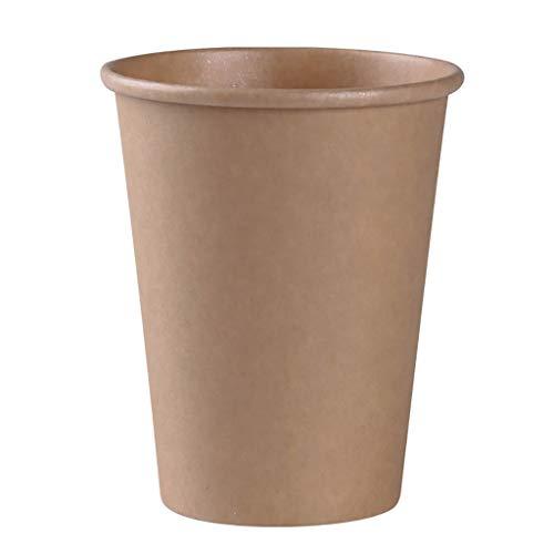XZ15 Wegwerp koffiebeker, recyclebaar kraftpapier beker voor feest, barbecue, drank, 245ml - 100 per verpakking