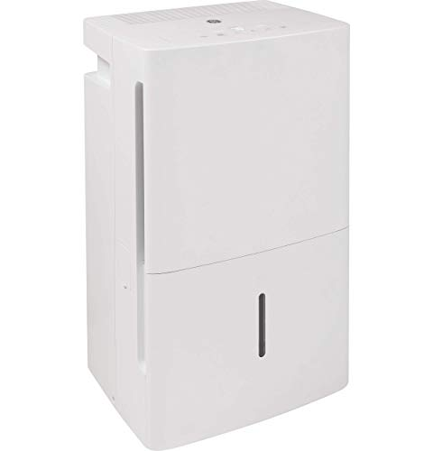 GE ADEL35LZ-GE 35 Pint Energy Star Dehumidifier with Digital Controls for Very Damp Rooms, White (Renewed)