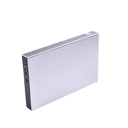 External Hard Drive Hdd 2tb/750gb/250gb, 2.5-inch Metal Portable Usb 3.0 Backup Storage, Suitable for Pc, Desktop, Laptop, Macbook, Ps4, Xbox One, Smart Tv (Capacity : 120GB, Color : Silver)